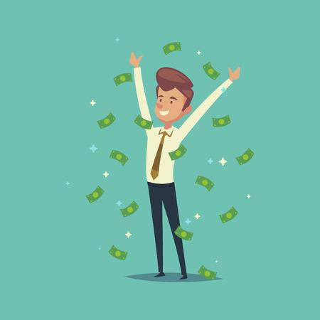 man rejoices in money