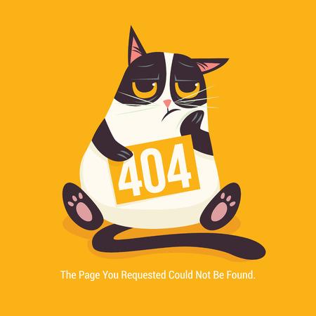cat 404 error vector illustration Vector Illustration