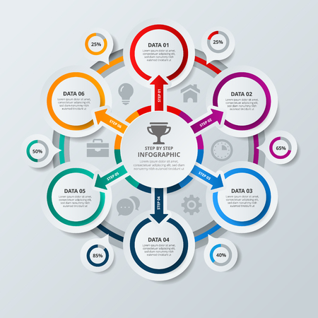 Mindmap, scheme infographic design concept with circles and icons