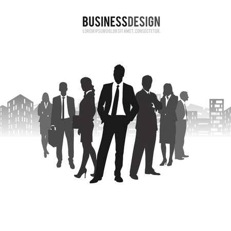 icons of people, businessmen, vector illustration