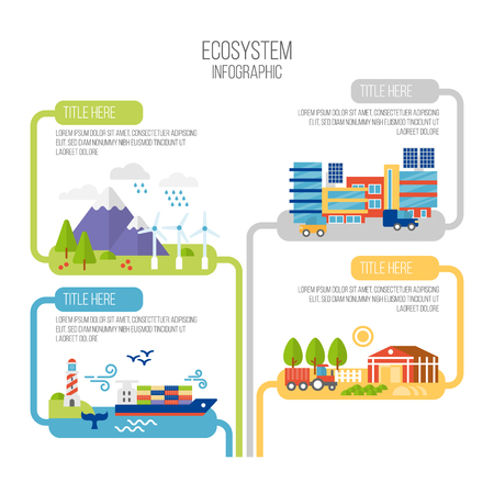 Infographics ecology vector illustration Illustration