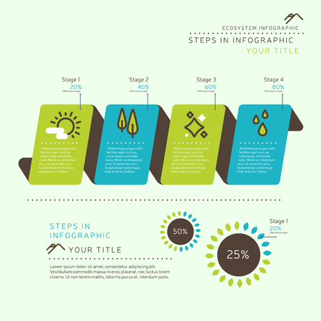 Infografiken Ökologie-Vektor-Illustration