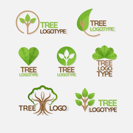 Iconos de la ecología del planeta verde