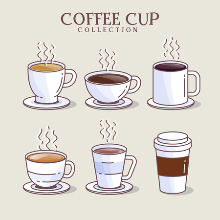Coffee set icon. Vector illustration. drawn design element for label and poster