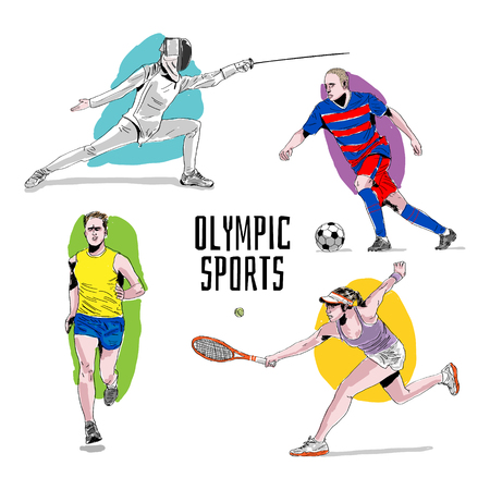 Sport icons. Vector set Ilustrace