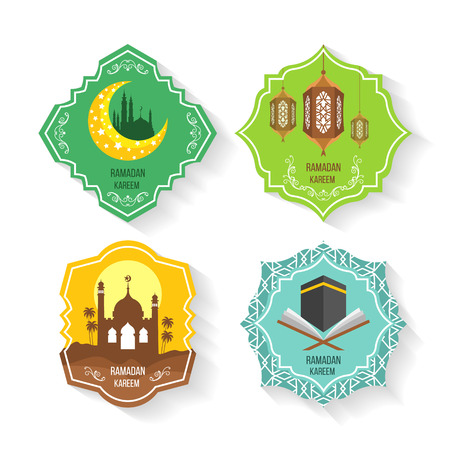 Set of flats icons: Ramadans Kareem Illustration