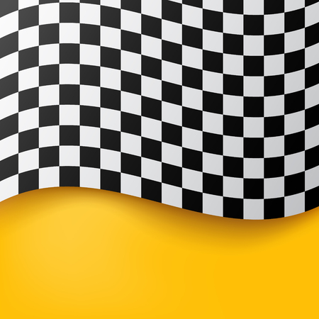 checkered flag background. race flag design