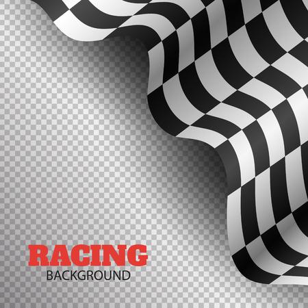 checkered flag background. race flag design