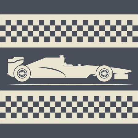 racing pictogram, formula car Ilustrace