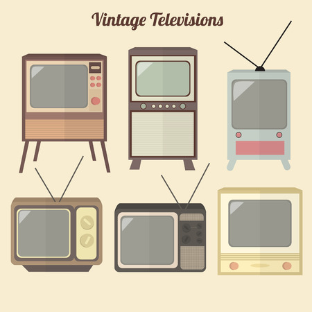 Retro TV Set Icon  イラスト・ベクター素材