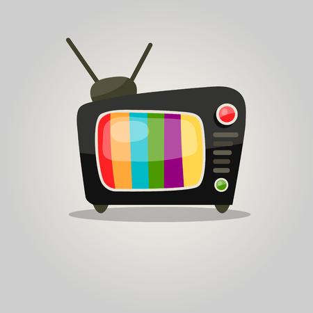 Retro TV Set Icon Ilustração
