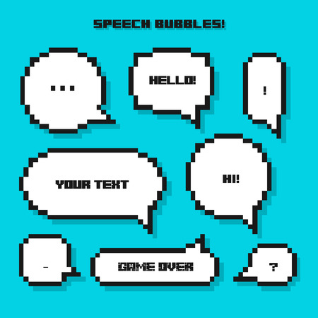 Pixel Speech Bubble Set