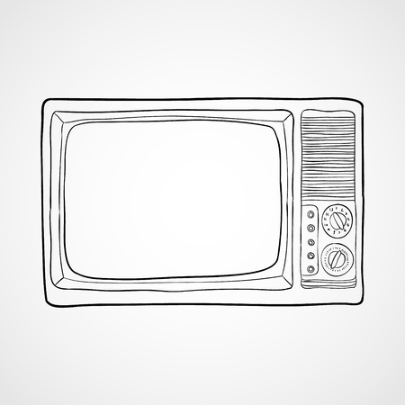 Tv Icon vector illustration in flat style isolated on white background