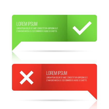 Häkchen-Icon-Set Vektorgrafik