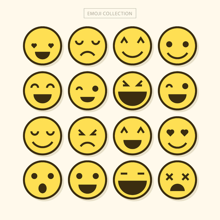 Emoji Vector Set Collection in Modern Style 일러스트