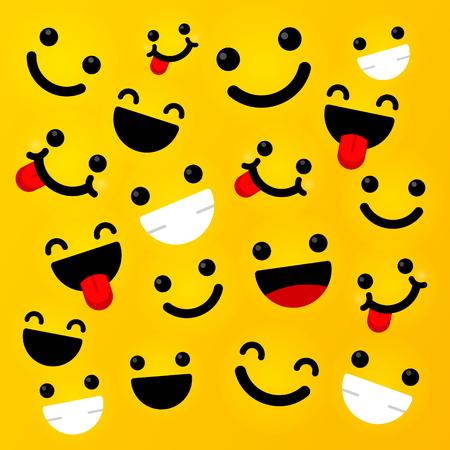 Smiling emoticon with happy eyes