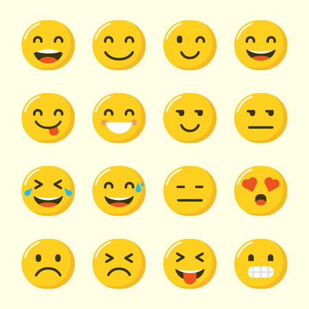 Emoji-Vektor-Set-Sammlung im modernen Stil