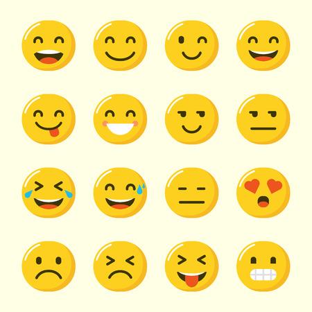 Kolekcja Emoji Wektor Zestaw w Nowoczesnym Stylu