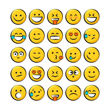 Emoji Vector Set Collection in Modern Style