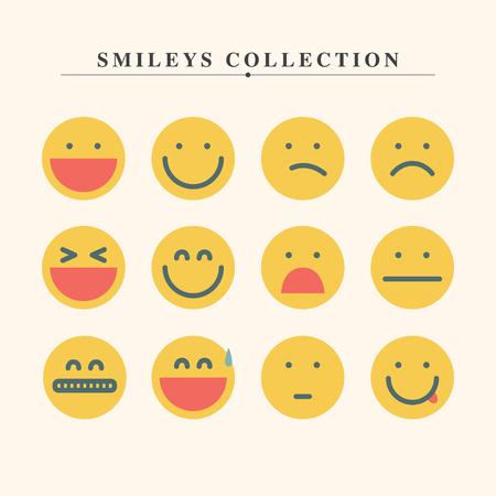 Colección Emoji Vector Set en estilo moderno