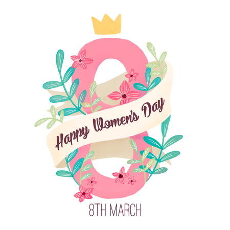 8 March. Women's Day Greeting card. Origami Floral bouquet. Rectangle frame. Space for text on purple. Happy Mother's Day. Vector Spring illustration Illusztráció