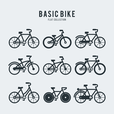 Set Bicycles illustration Vector