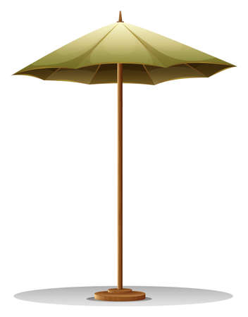 Illustration of a table umbrella on a white background