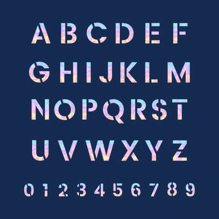 The Alphabet and numeral system vectors 矢量图像