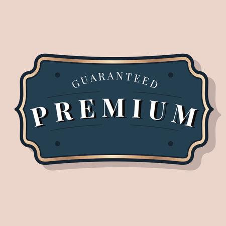 Vintage guaranteed premium badge vector