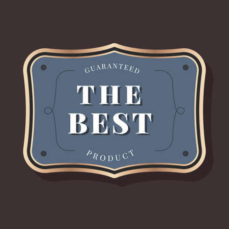 Guaranteed the best product badge vector