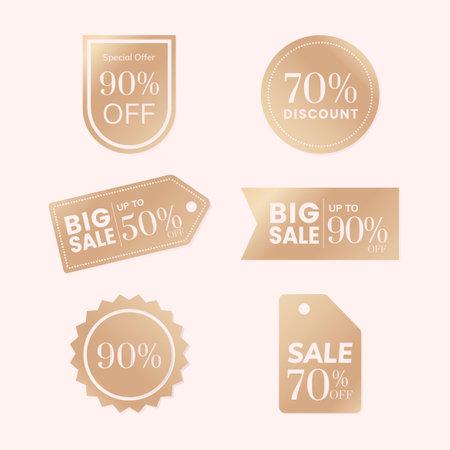 Shop sale promotion advertisement badges vector set 矢量图像