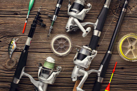 top view fishing essentials bait. Resolution and high quality beautiful photo