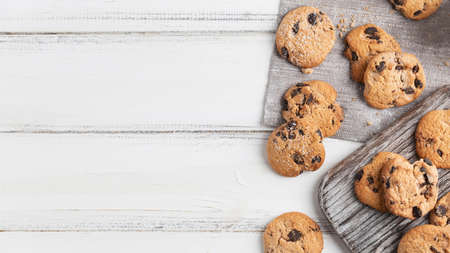 top view chocolate cookies. Resolution and high quality beautiful photo Reklamní fotografie