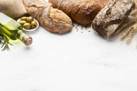 top view bread concept with copy space. Resolution and high quality beautiful photo