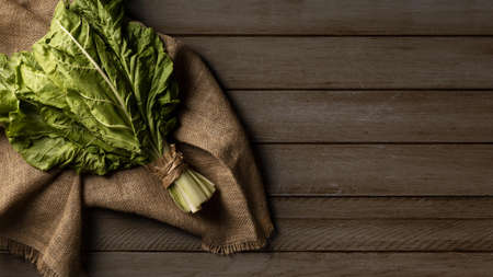 top view chard kale with copy space. Resolution and high quality beautiful photo Reklamní fotografie