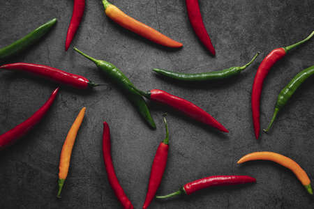 top view arrangement chili peppers. Resolution and high quality beautiful photo