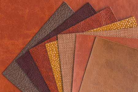 top view assortment leather. Resolution and high quality beautiful photo Reklamní fotografie