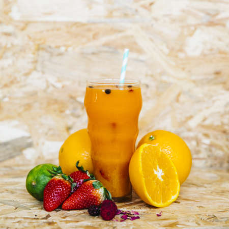 summer cocktail tropical fruits. Resolution and high quality beautiful photo
