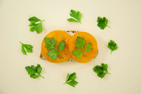 tasty sandwich with parsley. Resolution and high quality beautiful photo Reklamní fotografie