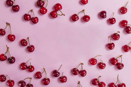 surface with cherries blank space. Resolution and high quality beautiful photo Reklamní fotografie
