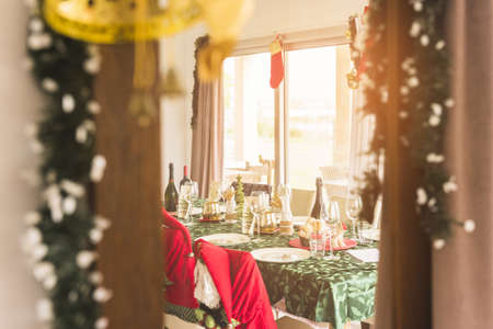 table served christmas dinner. Resolution and high quality beautiful photo