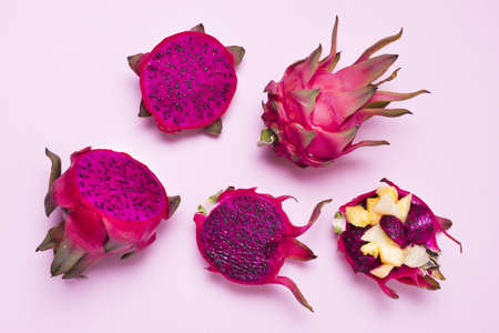 top view assortment exotic fruits table. Resolution and high quality beautiful photo