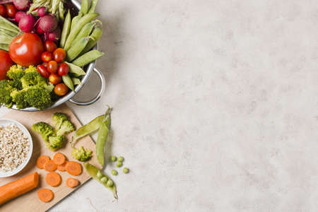 top view bowl healthy food with copy space. Resolution and high quality beautiful photo Reklamní fotografie - 166065147