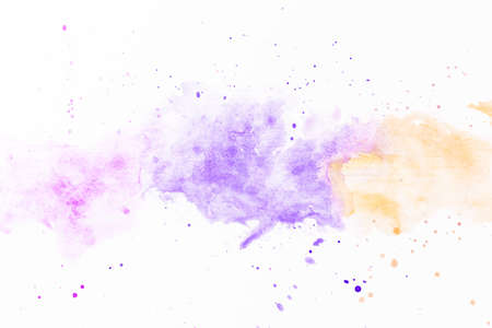 splatters violet yellow paint. Resolution and high quality beautiful photo