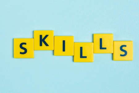 skills word tiles.