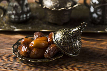 arabic food composition ramadan with dates. Resolution and high quality beautiful photo
