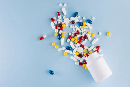 colorful pills plastic bottle. Resolution and high quality beautiful photo