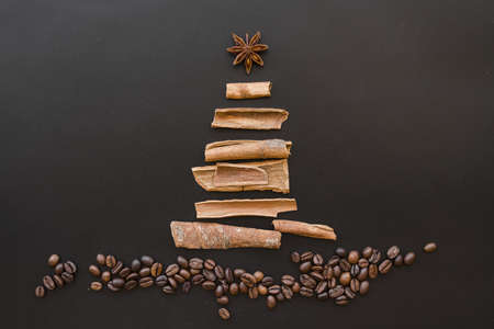 christmas tree from bark. Resolution and high quality beautiful photo