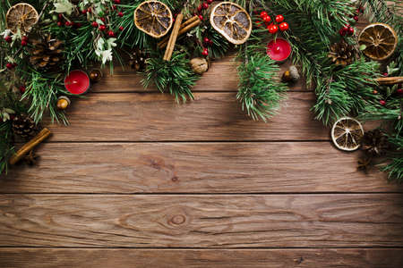 christmas twig wooden board. Resolution and high quality beautiful photo