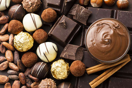 close up chocolate arrangement. Resolution and high quality beautiful photo